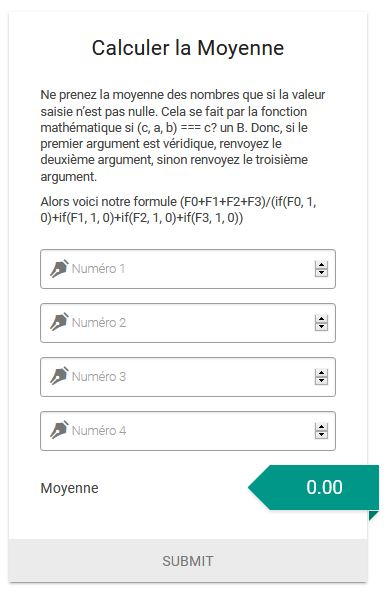 Calculateur de moyenne conditionnelle